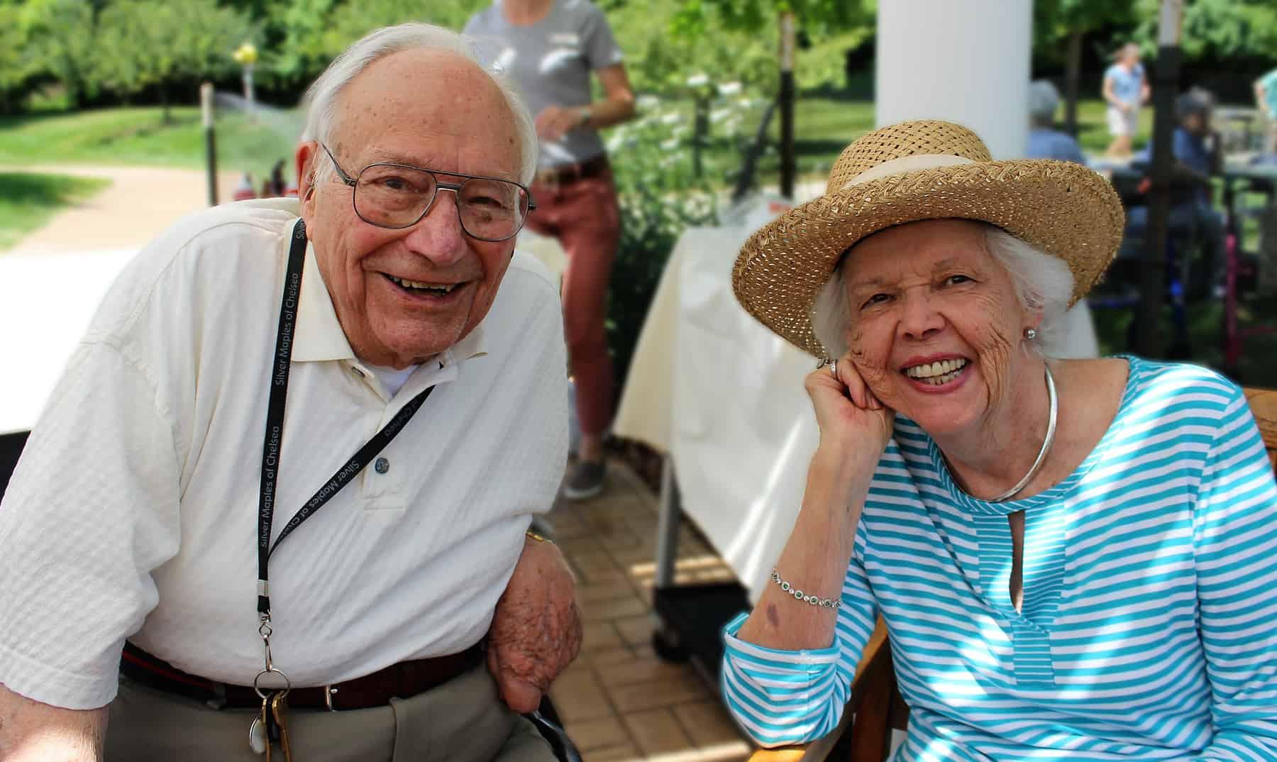 Senior couple enjoys their community