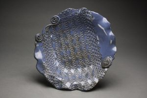 Potter Cheryl Green's Lace Bowl with Scroll