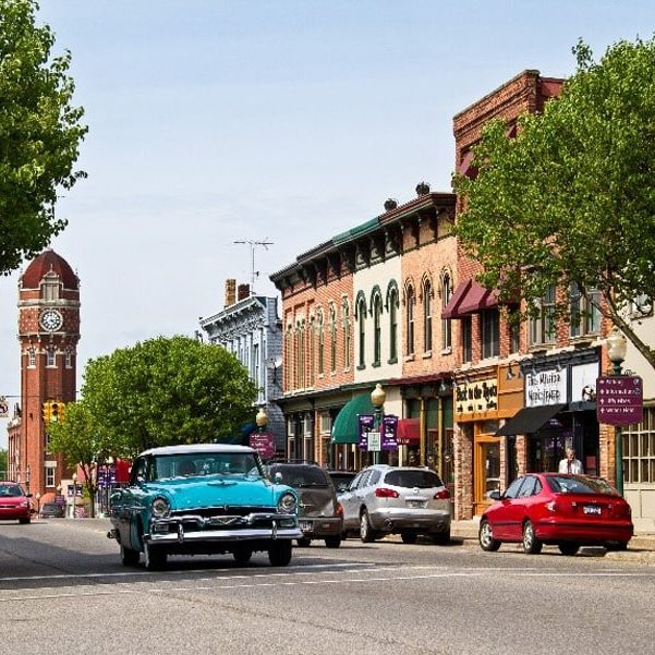 Historic downtown Chelsea Michigan
